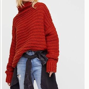 Free people link link mock neck sweater size xs/s